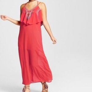 NWT Xhilaration Embroidered Popover Maxi Dress